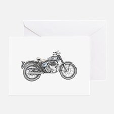 Enfield Motorcycle Greeting Card