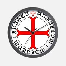 Knights Templar 12th Century Seal - Hol Wall Clock