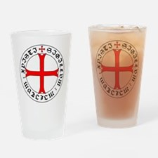 Knights Templar 12th Century Seal - Drinking Glass