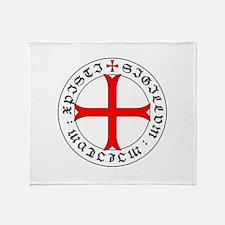 Knights Templar 12th Century Seal - Throw Blanket