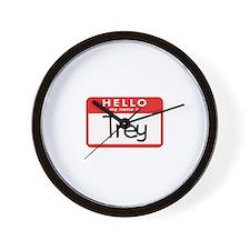 Hello Trey Wall Clock