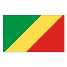 Republic of Congo Flag Rectangle Decal