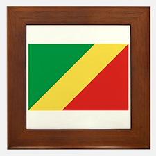Republic of Congo Flag Framed Tile