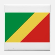 Republic of Congo Flag Tile Coaster