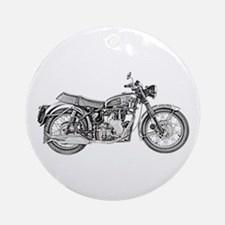 Enfield Motorcycle Ornament (Round)