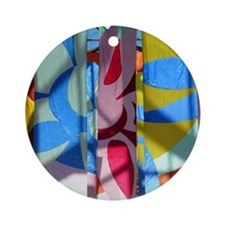 Quincy Market Banners - Round Ornament