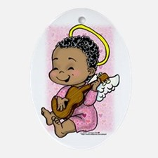Musical Angel Oval Ornament