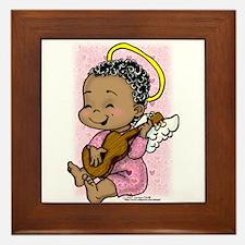 Musical Angel Framed Tile