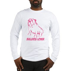 Bulldog Lover II Pink Long Sleeve T-Shirt
