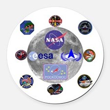 Spaceflight Centers Composite Round Car Magnet