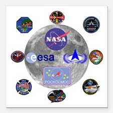 "Spaceflight Centers Comp Square Car Magnet 3"" x 3"""