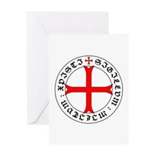 Knights Templar 12th Century Seal - Greeting Cards
