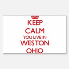Keep calm you live in Weston Ohio Decal