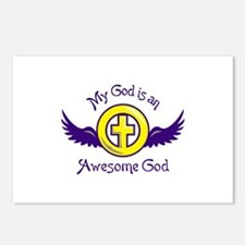 AWESOME GOD Postcards (Package of 8)