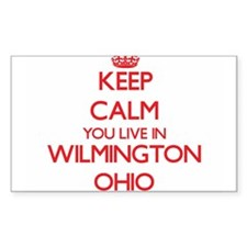Keep calm you live in Wilmington Ohio Decal