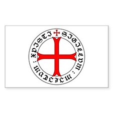 Knights Templar 12th Century Seal - Holy G Decal