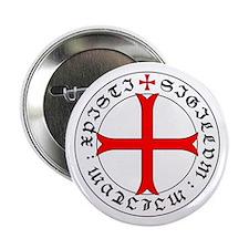 "Knights Templar 12th Century Seal - H 2.25"" Button"
