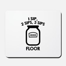 1 Sip, 2 Sips, 3 Sips Floor Mousepad