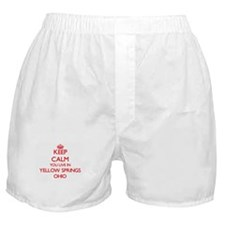 Keep calm you live in Yellow Springs Boxer Shorts