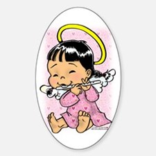 Flutey Angel Oval Decal