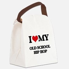 I Love My OLD SCHOOL HIP HOP Canvas Lunch Bag