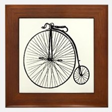 Antique Penny Farthing Bicycle Framed Tile