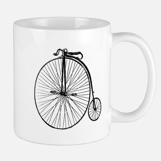 Antique Penny Farthing Bicycle Mugs