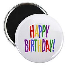 "Happy Birthday 2.25"" Magnet (100 pack)"