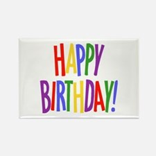 Happy Birthday Rectangle Magnet (10 pack)