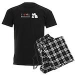 I Love Romance Men's Dark Pajamas