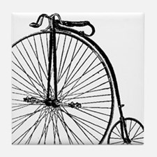 Antique Penny Farthing Bicycle Tile Coaster