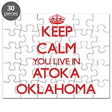 Keep calm you live in Atoka Oklahoma Puzzle