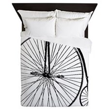 Antique Penny Farthing Bicycle Queen Duvet