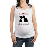 I Love Romance Maternity Tank Top