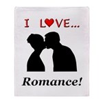 I Love Romance Throw Blanket