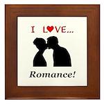 I Love Romance Framed Tile