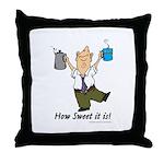 Coffee Fanatics Throw Pillow