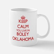 Keep calm you live in Boley Oklahoma Mugs