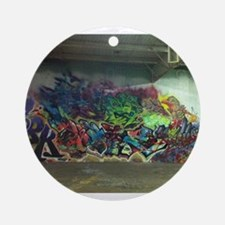 Houston graffiti Ornament (Round)