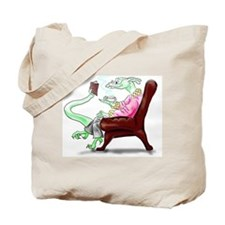 Dragon in Arm Chair Tote Bag