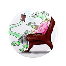 """Dragon in Arm Chair 3.5"""" Button (100 pack)"""