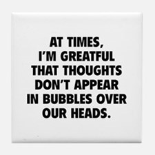 Bubbles Over Our Heads Tile Coaster
