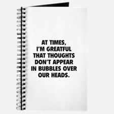 Bubbles Over Our Heads Journal