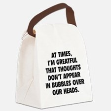 Bubbles Over Our Heads Canvas Lunch Bag