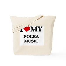 Cute I heart polka Tote Bag