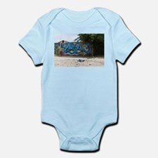 Blue Graffiti Body Suit