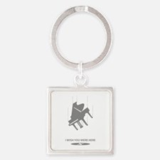 I Wish You Were Here Square Keychain