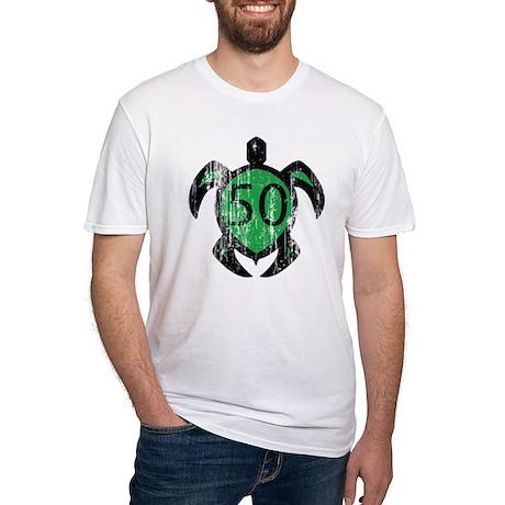50 hawaiian turtle Fitted T-Shirt