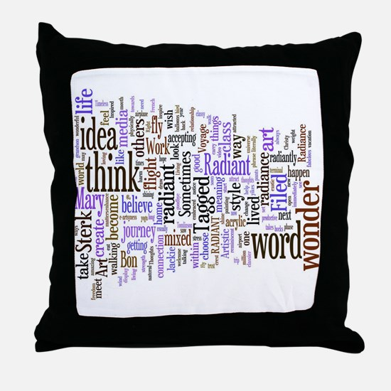 Unique Words Throw Pillow