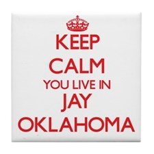 Keep calm you live in Jay Oklahoma Tile Coaster
